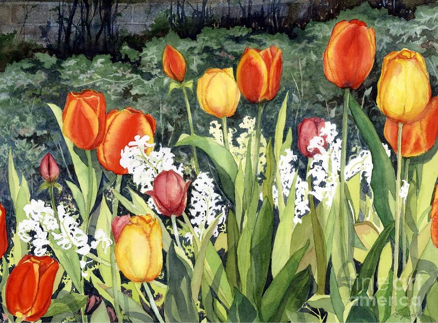 Flowers Painting - Anns Tulips by Barbara Jewell
