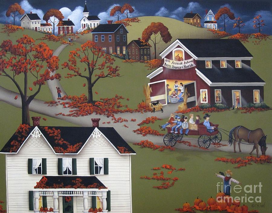 Painting Painting - Annual Barn Dance And Hayride by Catherine Holman