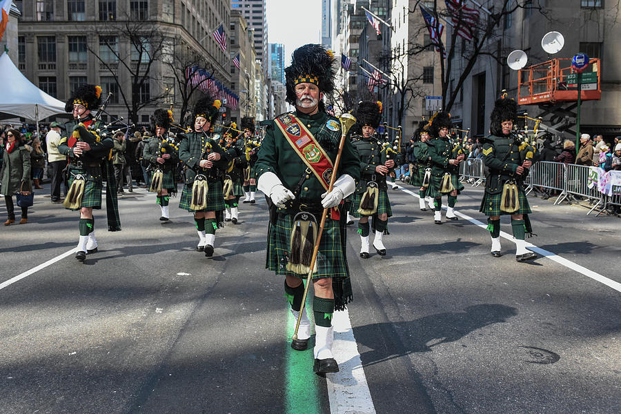 Annual St. Patricks Day Parade Marches Photograph by Stephanie Keith