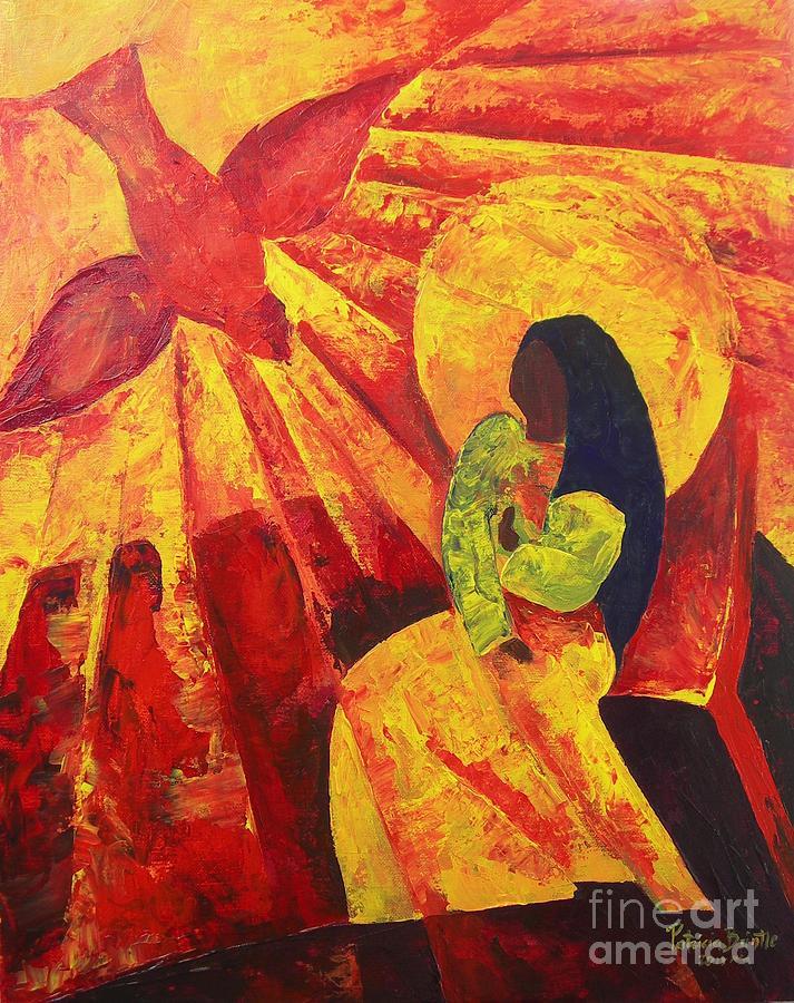 Haiti Painting - Annunciation by Patricia Brintle