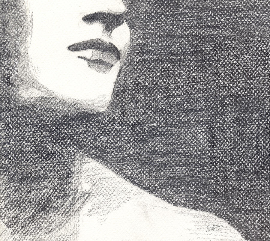 Face Drawing - Anonymous Crop by Michele Engling