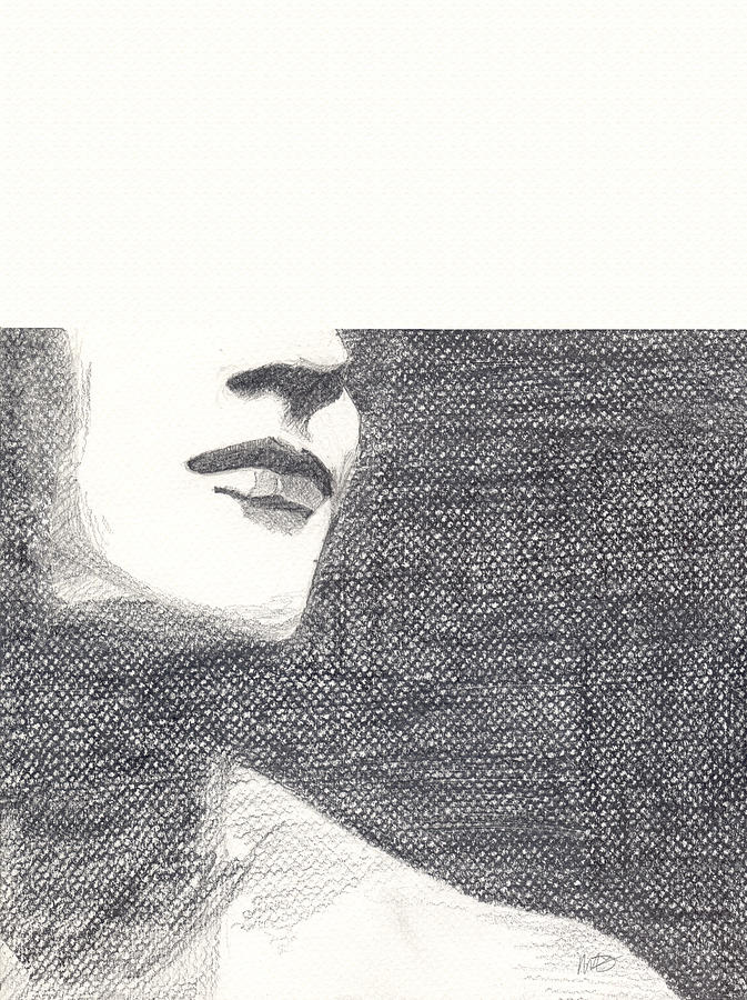 Face Drawing - Anonymous by Michele Engling