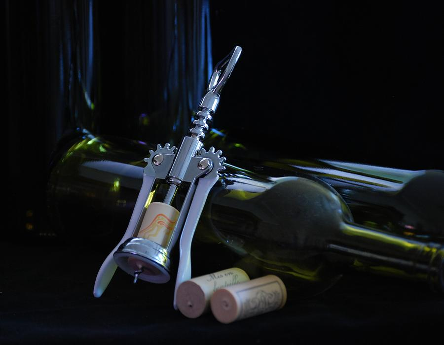 Wine Photograph - Another Bottle by Steven Liveoak