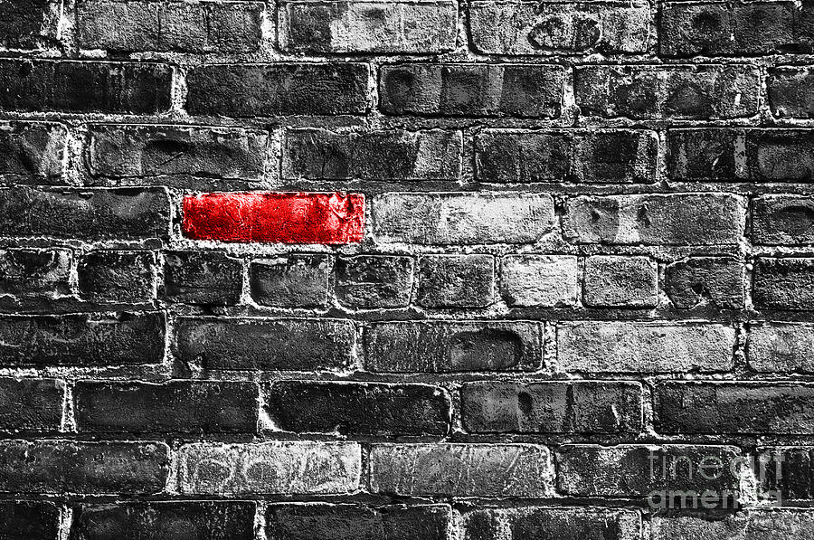 Wall Digital Art - Another Brick In The Wall by Delphimages Photo Creations