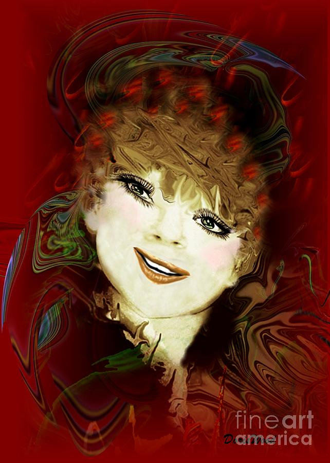 Portrait Digital Art - Another Pretty Face by Doris Wood