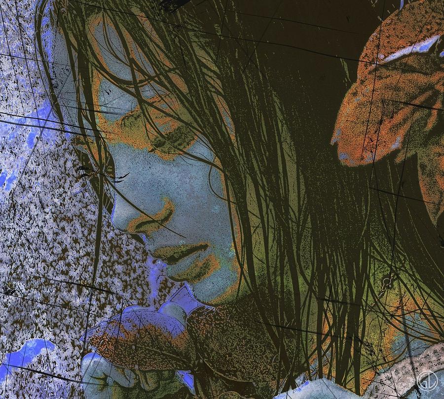 Woman Digital Art - Another Rainy Day by Gun Legler
