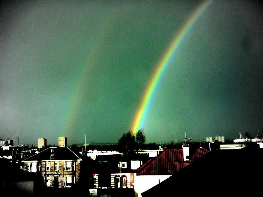Rainbow Photograph - Another Scottish Rainbow by Mlle Marquee