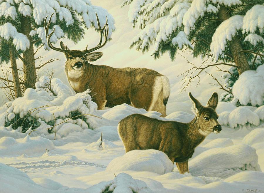 Wildlife Painting - Another Season by Paul Krapf