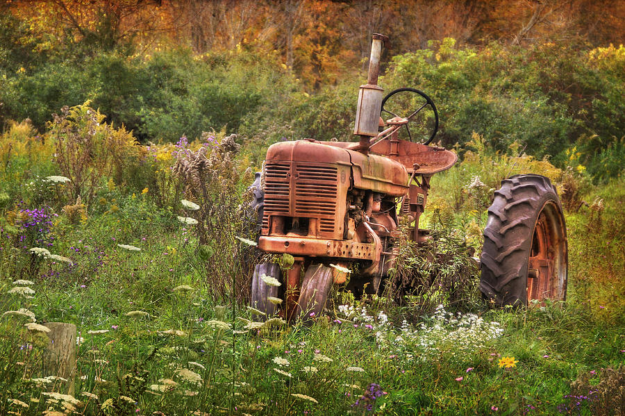 Tractor Photograph - Another Time by Lori Deiter