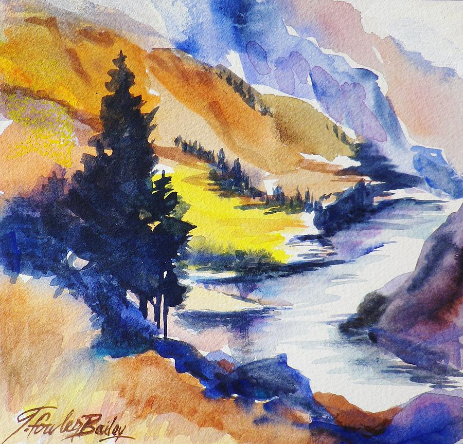 Truckee River Painting - Another View Of The Truckee  by Therese Fowler-Bailey