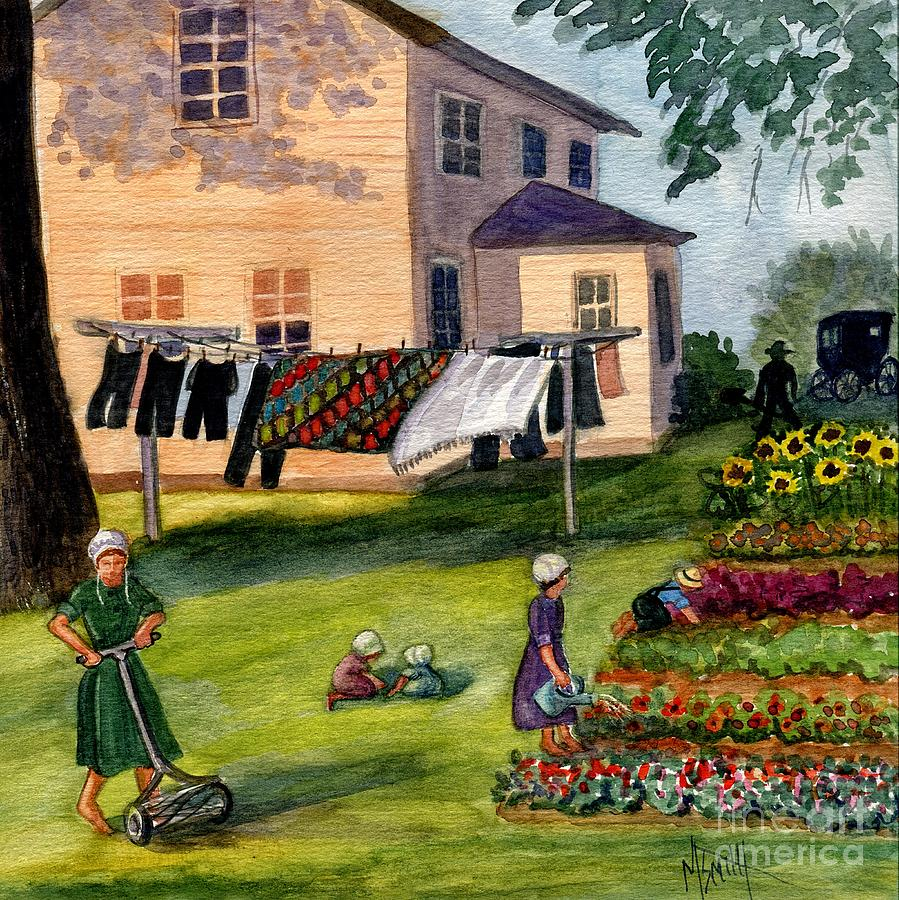 Amish Painting - Another Way Of Life II by Marilyn Smith
