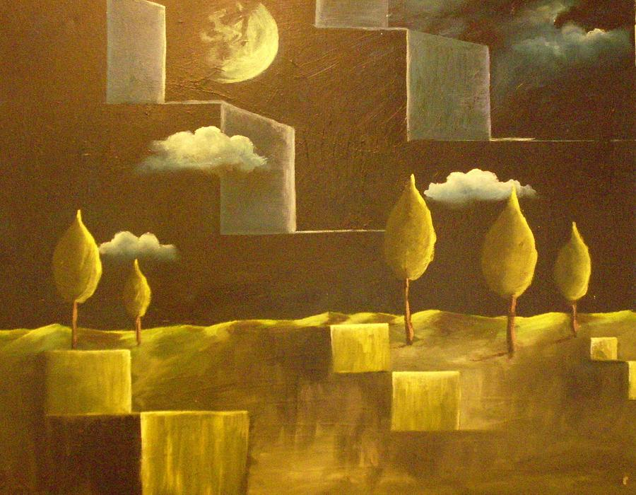 Surrealism Painting - another World by Birgit Schnapp