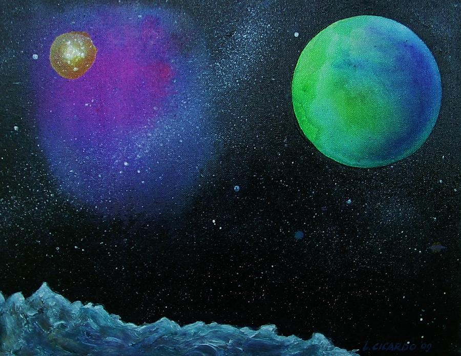 Space Painting - Another World - Sold by Lou Cicardo