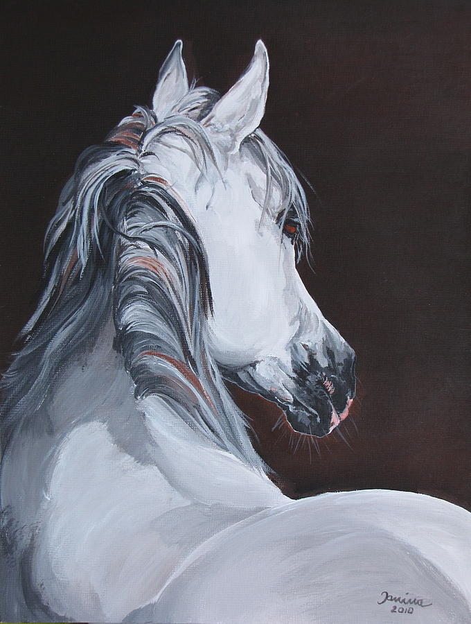 Acrylic Prints Painting - Ansata El Naseri  by Janina  Suuronen