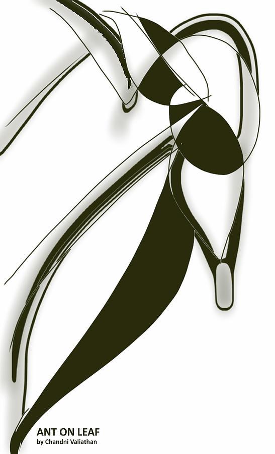 Digital Digital Art - Ant on Leaf by Chandni Valiathan