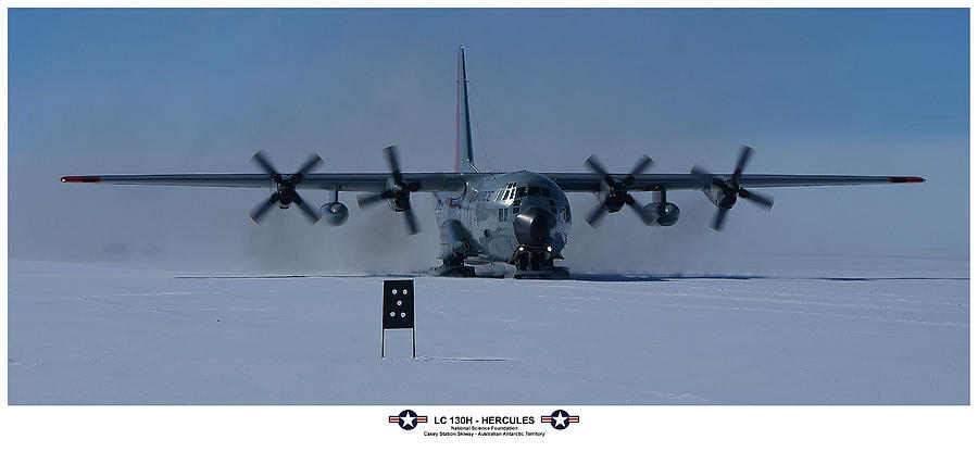 Us Air Force Photograph - Antarctic Hercules by David Barringhaus