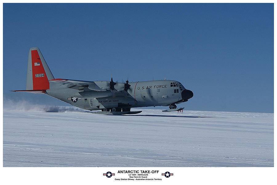 Hercules Photograph - Antarctic Take-off by David Barringhaus