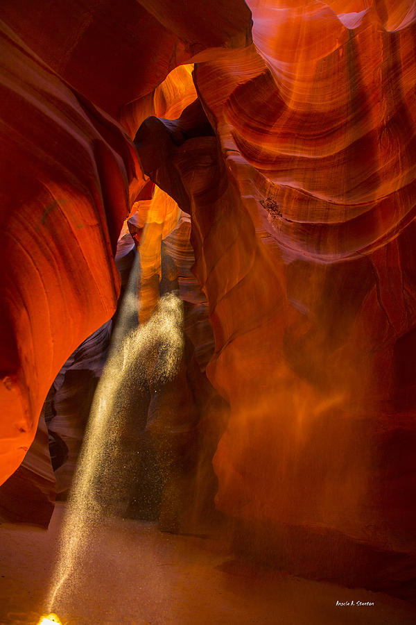 Antelope Canyon Photograph - Antelope Canyon - Sand In The Light by Angela A Stanton