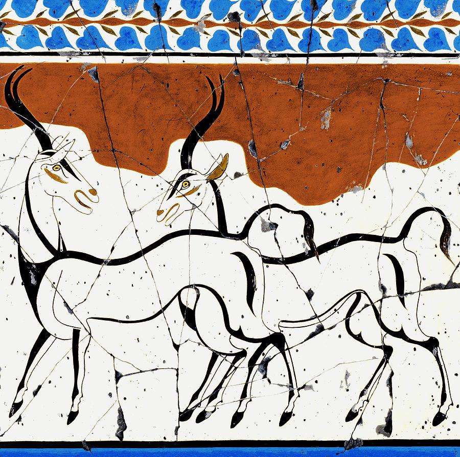 Antelope Painting - Antelope Of Akrotiri - Study No. 2 by Steve Bogdanoff