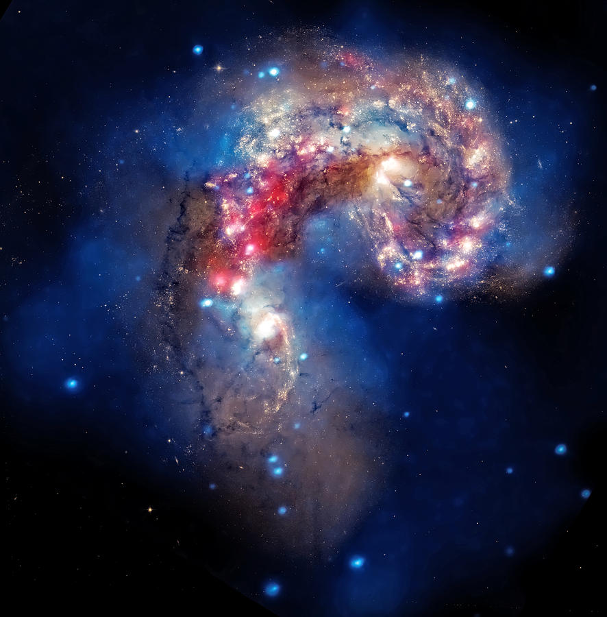 Universe Photograph - Antennae Galaxies Collide 2 by Jennifer Rondinelli Reilly - Fine Art Photography