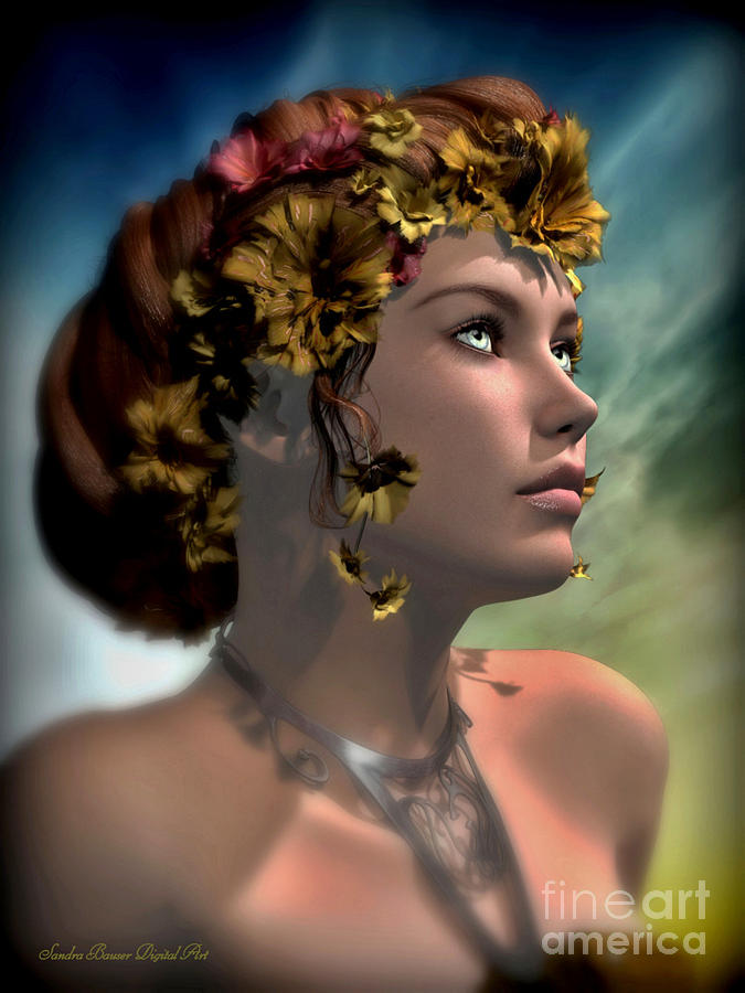 Antheia Digital Art - Antheia by Sandra Bauser Digital Art