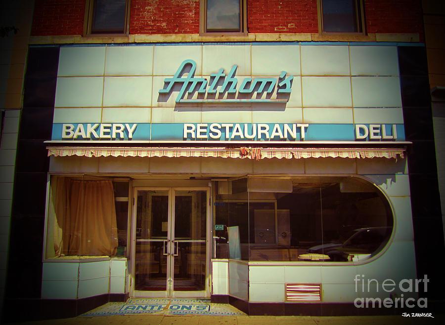 Sign Digital Art - Anthons Bakery Pittsburgh by Jim Zahniser