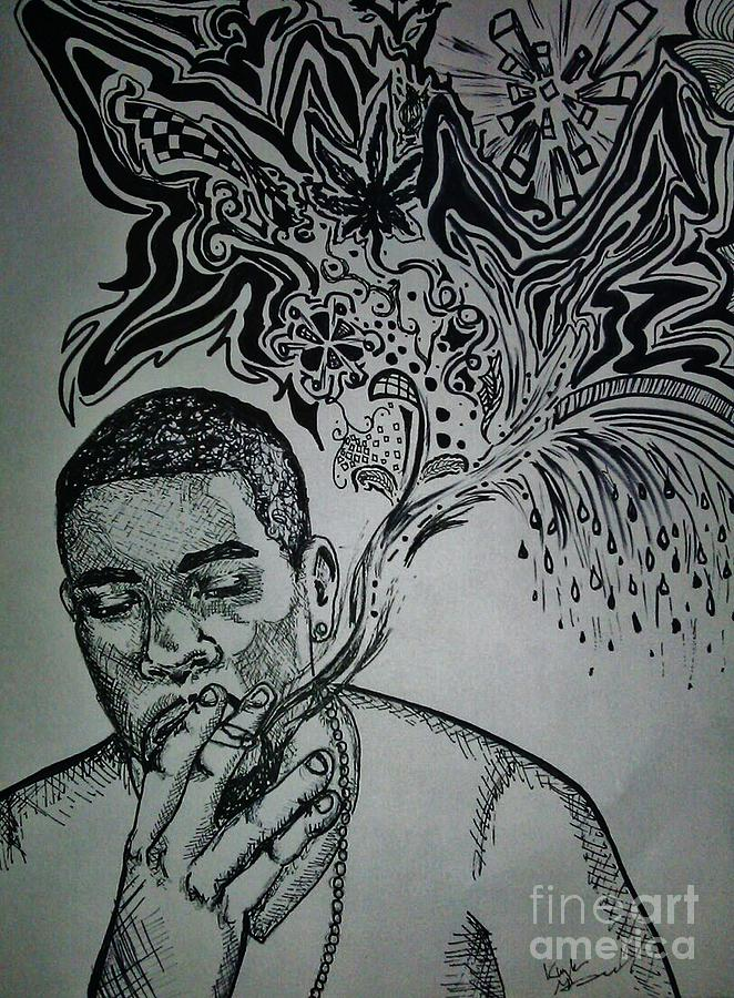 Trippy Drawing - Anthony by Kayla Giampaolo