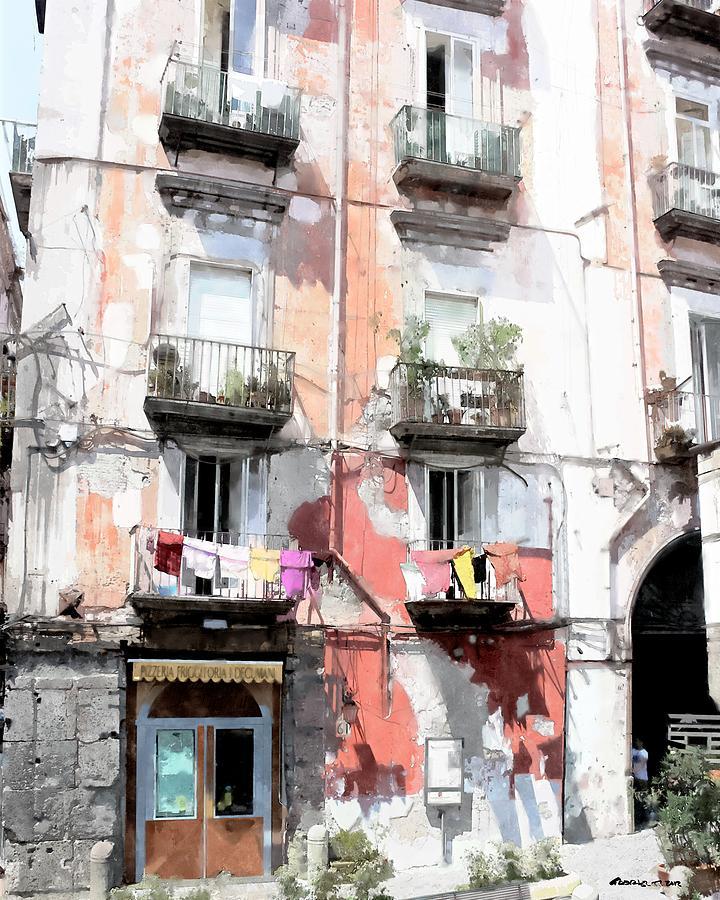Digital Watercolor Digital Art - Antica Pizzeria I Decumani - Naples by Gabriel T Toro