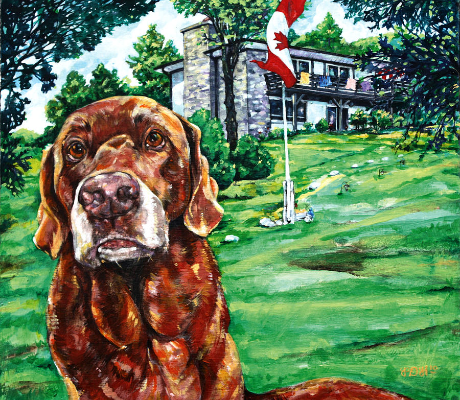 Labrador Painting - Anticipation by Derrick Higgins