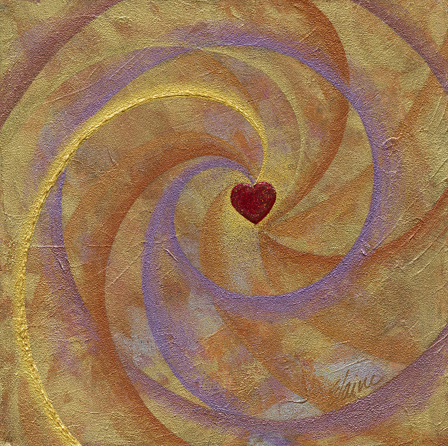 Heart Painting - Anticipation by Elaine Allen