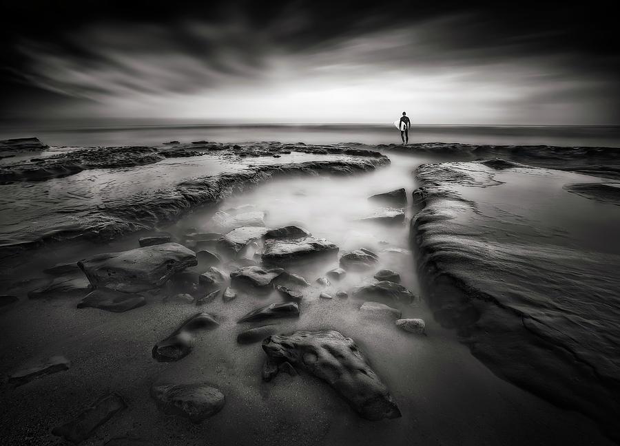 Sea Photograph - Anticipation by Huibo Hou
