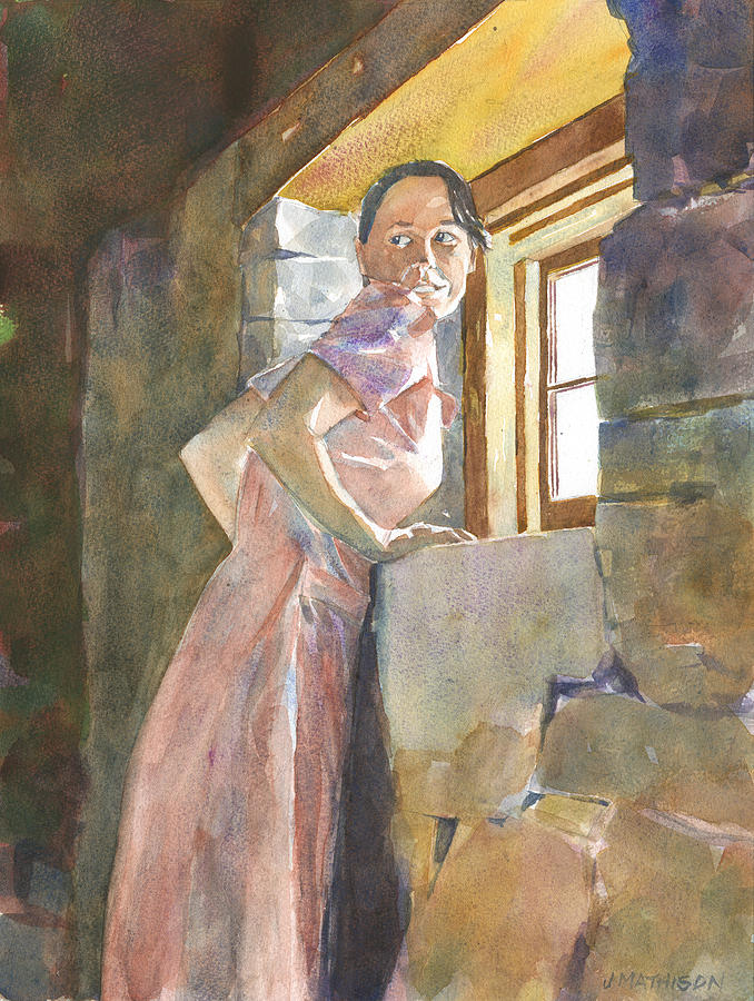 Old Farm Building Painting - Anticipation by Jeff Mathison