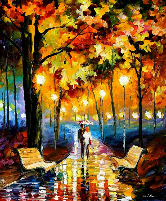 Anticipation of happiness palette knife oil painting on for Peinture mosaique