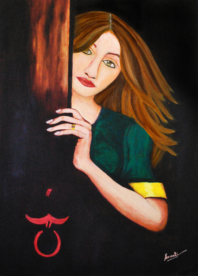 Woman Painting - Anticipation by Sonali Kukreja