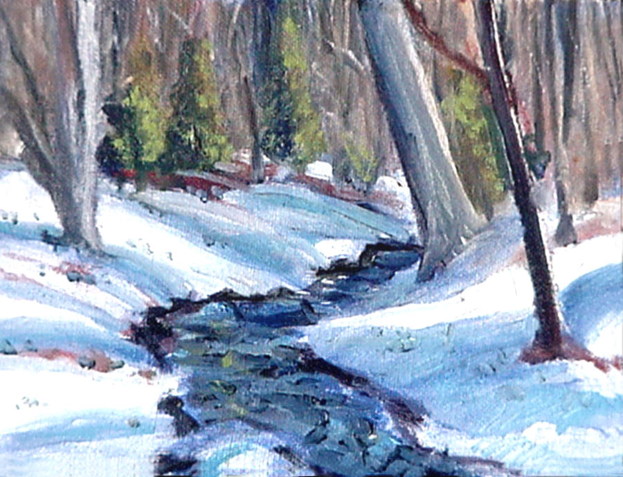 Landscape Paintings Painting - Antietam Creek Runoff by David Zimmerman