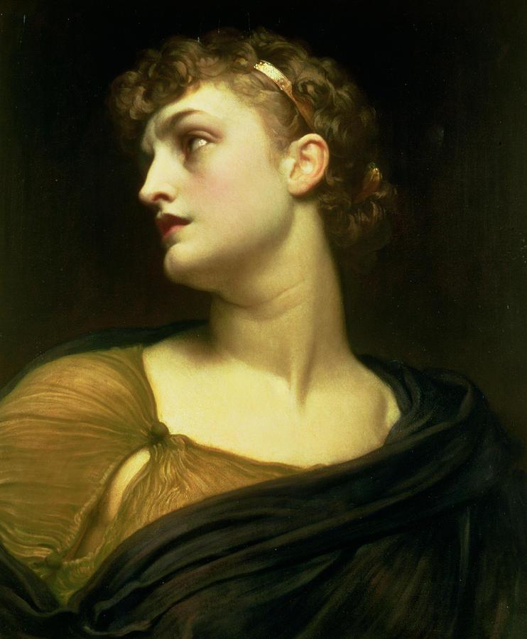 Portrait Painting - Antigone by Frederic Leighton