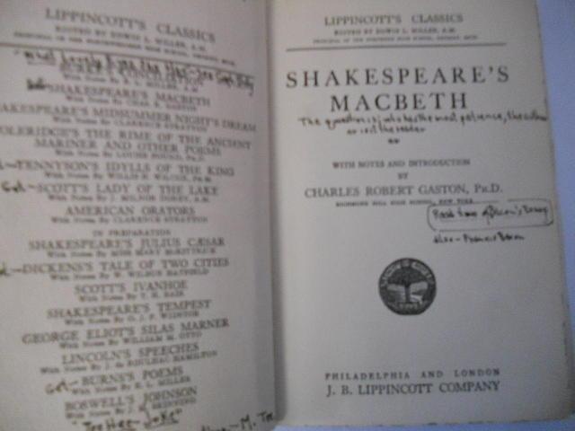 Antique Photograph - Antiqiue Shakespeare Macbeth by Dotti Hannum