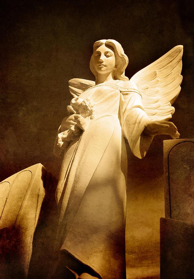 Antique Angel Statue Photograph