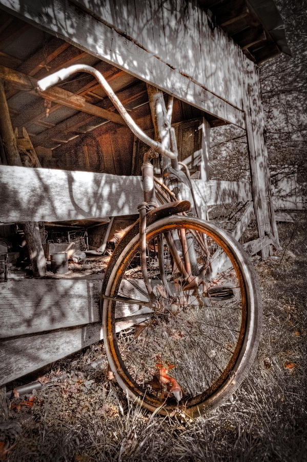 Appalachia Photograph - Antique Bicycle by Debra and Dave Vanderlaan