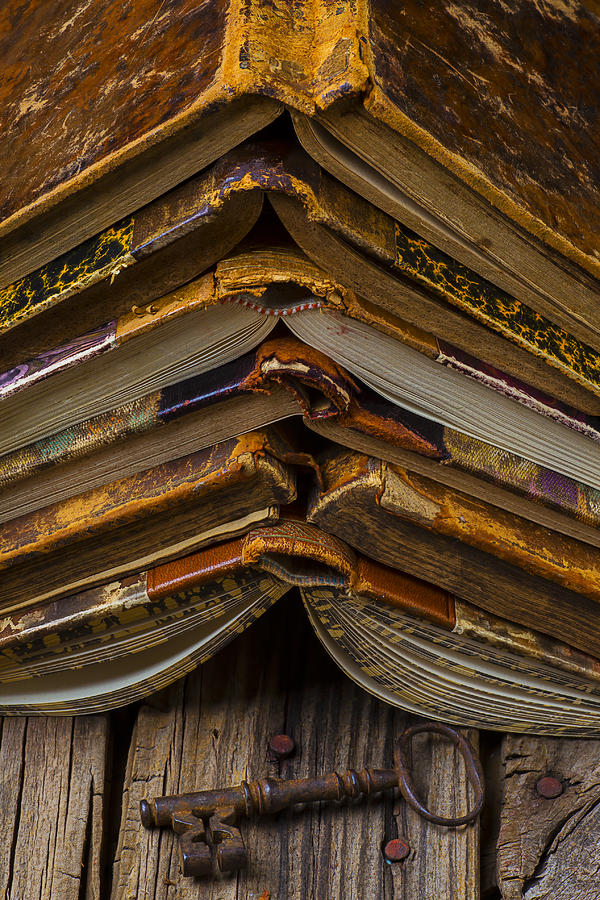 Key Photograph - Antique Books by Garry Gay