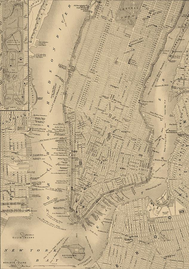 Antique Boston Map.Antique Boston Map 1842 Mixed Media By Dan Sproul