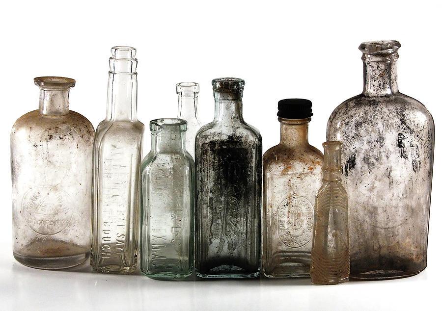 Antique Bottles Digital Art By Richard Ortolano