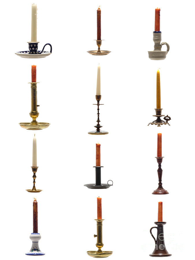 Candlestick Photograph - Antique Candleholders by Olivier Le Queinec