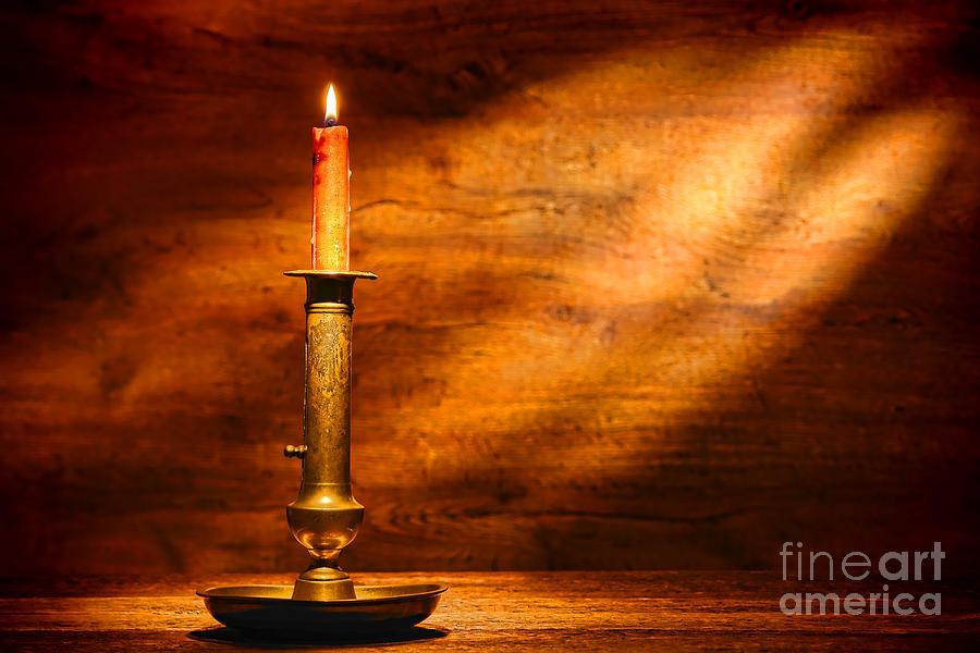 Candlestick Photograph - Antique Candlestick by Olivier Le Queinec