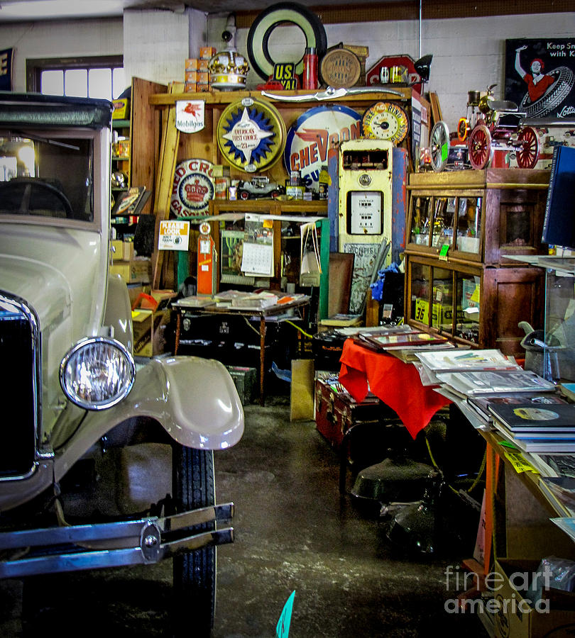 Antique Car Collectables Photograph by Charlene Gauld