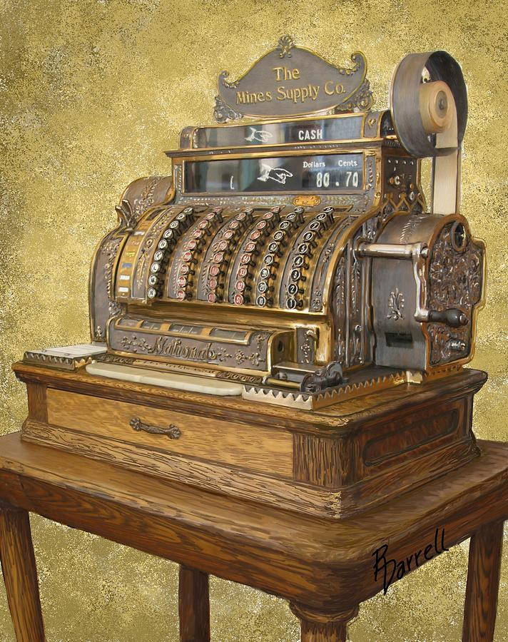 Antique Cash Register Digital Art By Ric Darrell