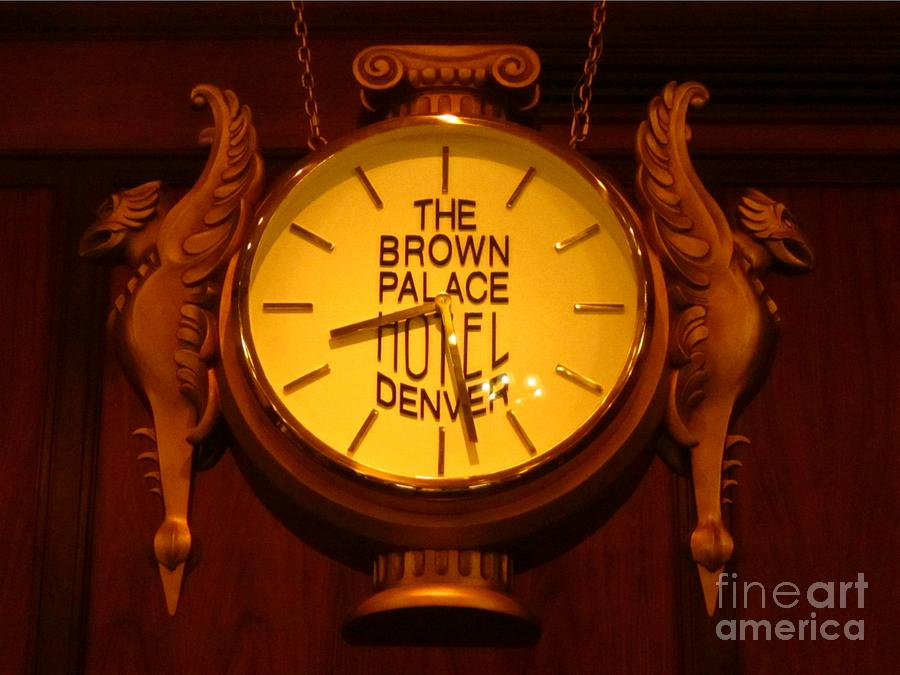 Antique Clock Art Photograph - Antique Clock At The Bown Palace Hotel by John Malone