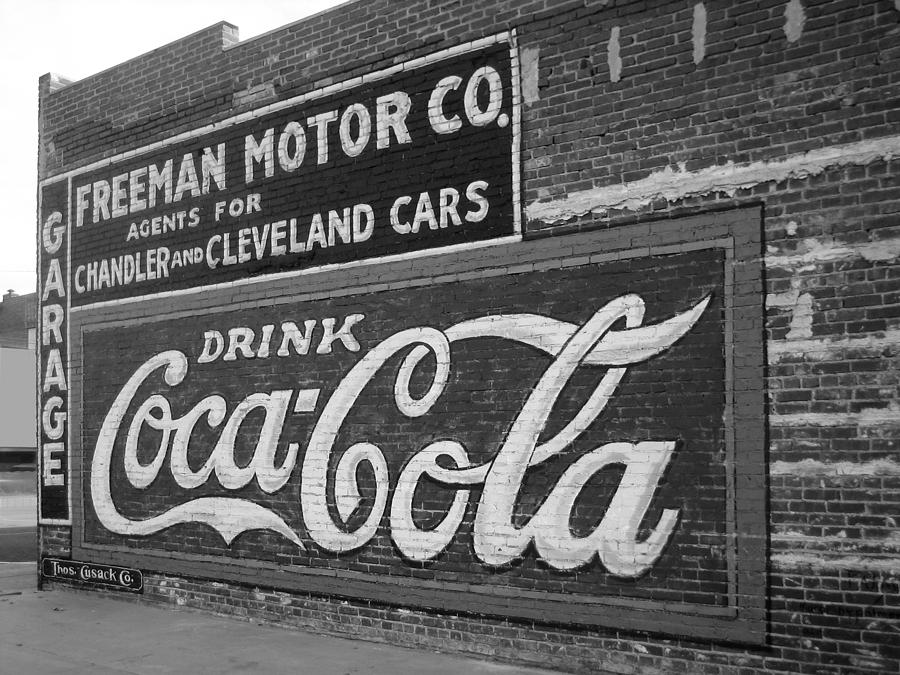 Coca Cola Sign Photograph - Antique Cola Sign by Ann Powell