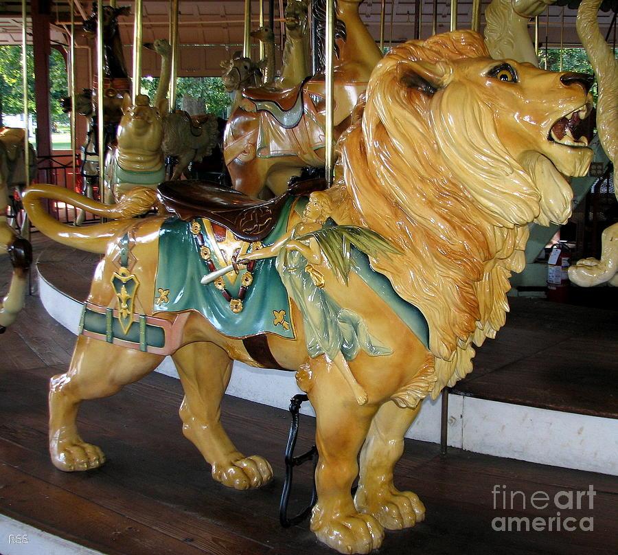 antique dentzel menagerie carousel lion photograph by rose. Black Bedroom Furniture Sets. Home Design Ideas