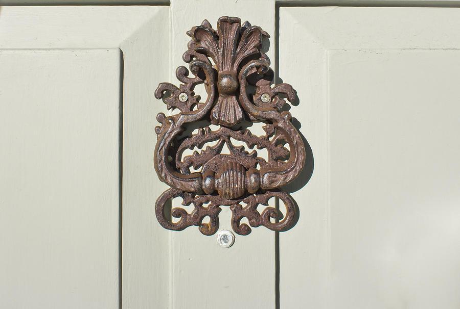 Ancient Photograph - Antique Door Knocker by Tom Gowanlock